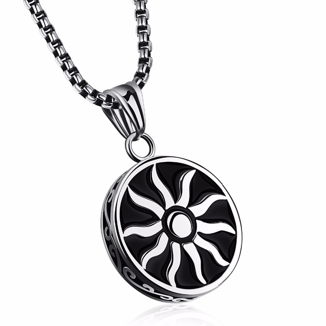 Fashion design sun god pendant necklace man vintage round stainless fashion design sun god pendant necklace man vintage round stainless steel pendant necklaces for men aloadofball Images