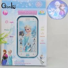 GonLeI Снежная королева игрушка телефон говорящая Принцесса Анна Эльза телефон мобильное обучение и образование детский мобильный телефон Электронные детские игрушки