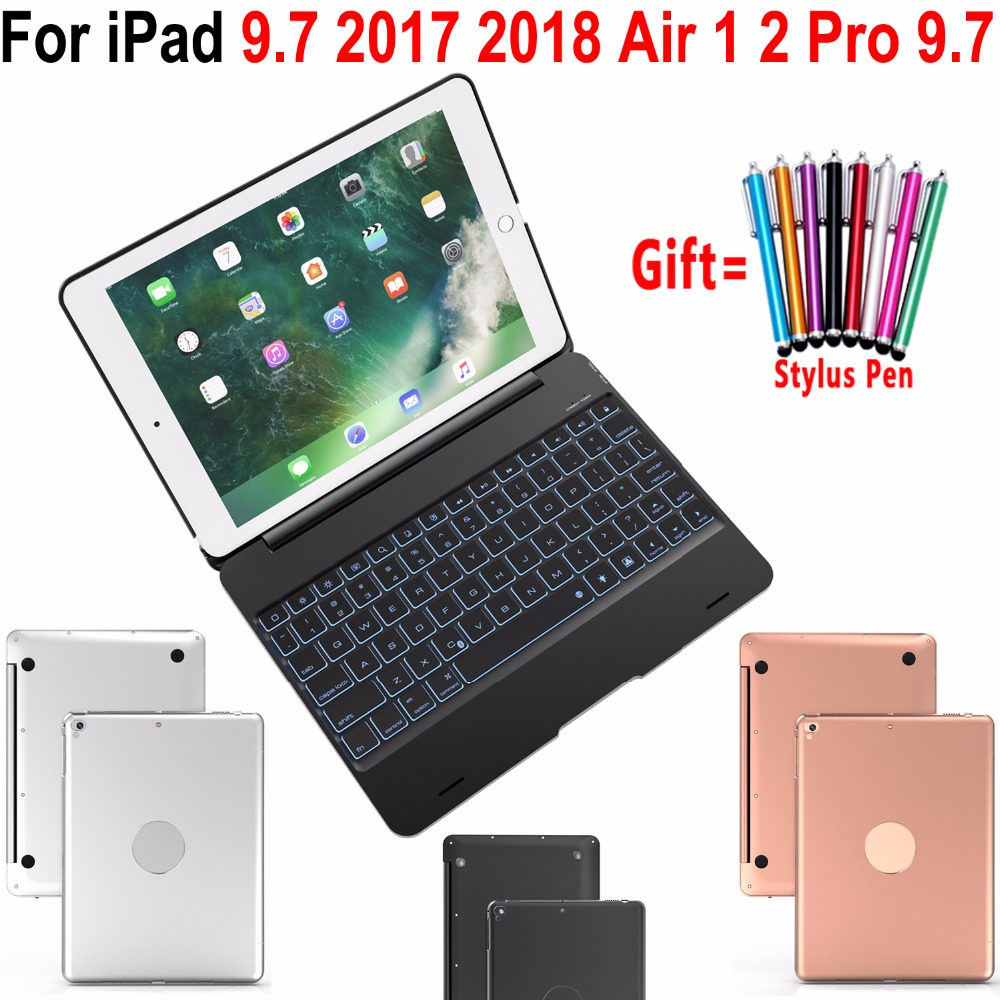 Flip Cover for Apple New iPad 9.7 2017 2018 5th 6th Generation Wireless Bluetooth Keyboard Case for iPad Air 1 2 5 6 Pro 9.7