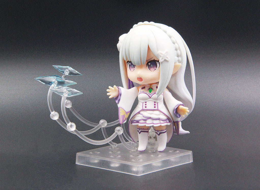 10CM Japanese anime figure Different world life from scratch nendoroid 751# Emilia Q version action figure collectible model rem re life in a different world from zero action figure nendoroid 10cm pvc anime figure collectible model toys brinquedos