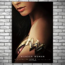 NUOMEE Wonder Woman Poster Superheroes Movie Silk Poster Prints 12x18 24x36 inch Wall Pictures for Living Room Home Decoration(China)