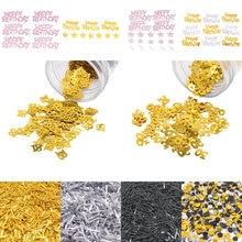 Confettis à paillettes nombres 18, 30, 40, 50, 60