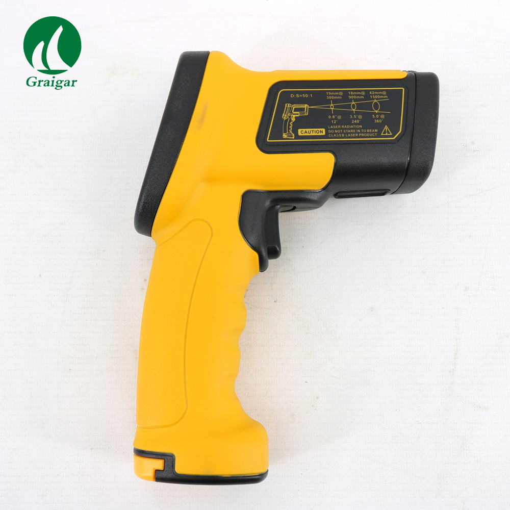 High Temperature AS872D Digital IR Gun Infrared Thermometer Emissivity 0.10~1.00 Adjustable elecall 50 800c adjustable emissivity autooff lcd noncontact digital laser infrared thermometer ir high temperature gun tester page 9