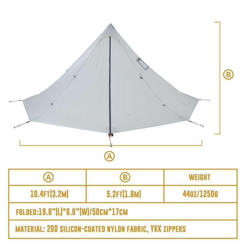 Открытый двойной тент Сверхлегкий 2 человек с подогревом укрытие для авантюристов Пешие прогулки Кемпинг 3 сезон палатка подходит для 2 человек - 5