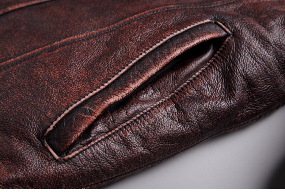 HTB1pMThRb2pK1RjSZFsq6yNlXXaV mens cowhide jacket Vintage Men 100% genuine leather Jackets Cow Jackets Zipper Stand Streetwear Leisure cool warm coat 18687-5