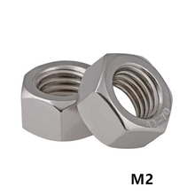 1000pcs M2 DIN934 A2-70 Stainless Steel Hex Nuts SUS304 Metric Fastener M1.6M2M2.5M3M4M5M6M8M10M12M14...M33 Aailable