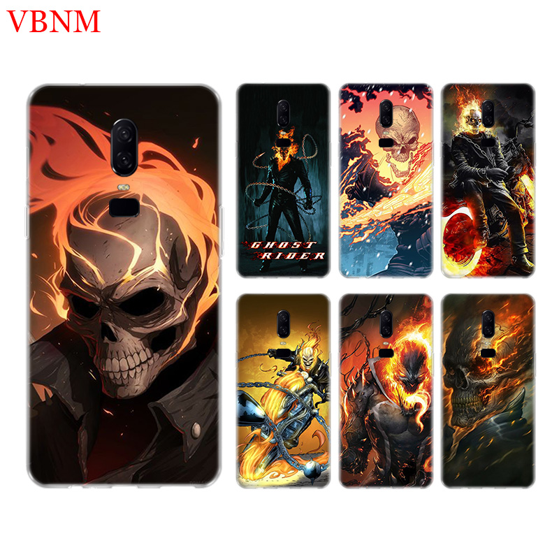 Ghost Rider Cage Funny Phone Back Case For font b OnePlus b font font b 7