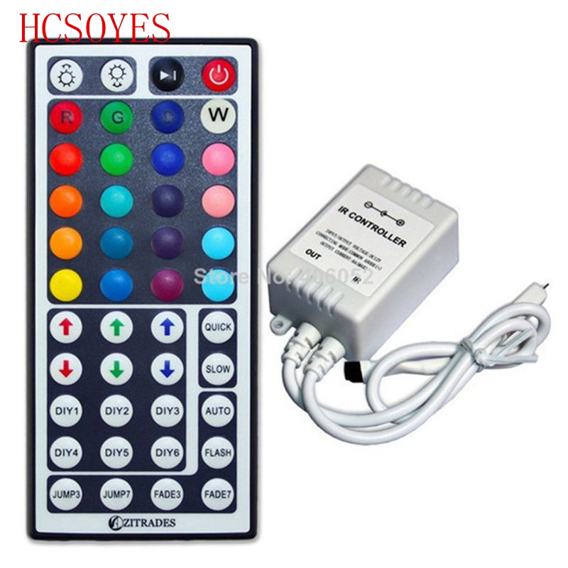 24key/44 Keys LED IR RGB Controller For SMD 5050 LED Strip Lights Tape Ribbon Mini IR Remote Wireless Dimmer Input DC12V 6A