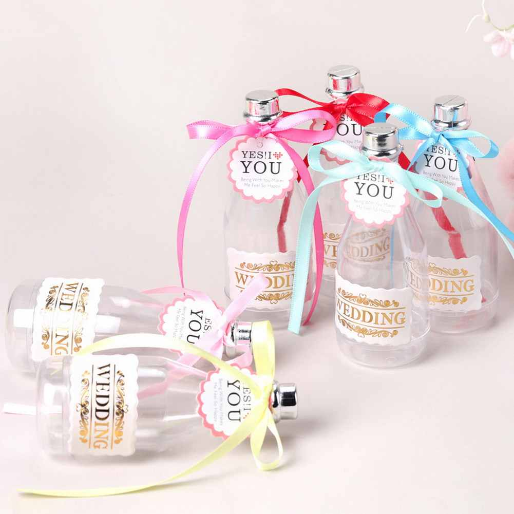 Candy Box Plastic Drifting Bottle Personality Champagne Bottle Small Gift Box for Birthday Gift Banquet 669