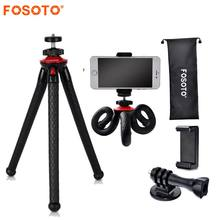 fosoto Mini Flexible Tripod Stand Octopus Waterproof Tripods&Phone Holder For Gopro iPhone X Smartphone DSLR Camera Nikon Canon(China)