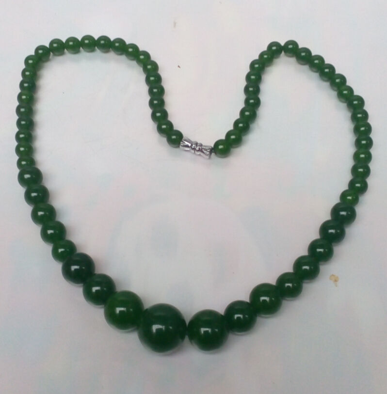 Fashion Natural Green Jade Beads Jewelry Necklace