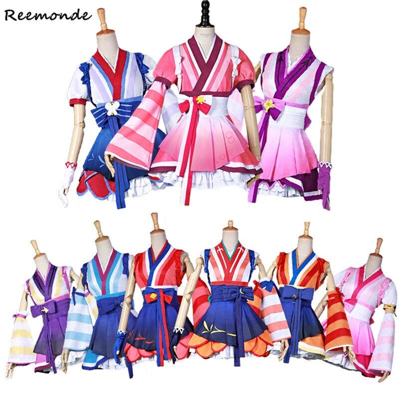 Love Live! Sunshine!! Cosplay Costumes LoveLive Aqours Mijuku Dreamer Kimono Dia Uniforms Suit For Women Girls Party Halloween