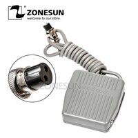 ZONESUN 페달 스위치 TFS-201 풋 스위치 페달 스위치 자체 리셋 라인 1.4m 전기 충전 기계 용 케이블 길이