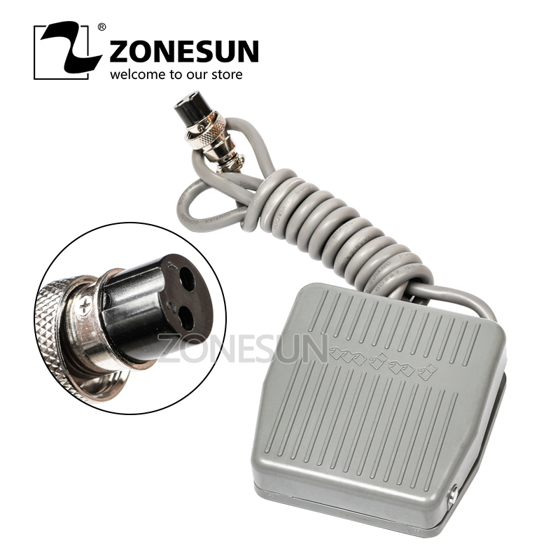 ZONESUN The pedal switch TFS-201 Foot Switch Pedal Switch With Self Reset Line 1.4m Cable Length for Electric Filling Machine