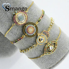 5Pieces 2019 New Arrival! The Rainbow Series, Mix Shape Irregularity Bracelet,Gold Color,Can Wholesale