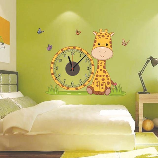 Christmas Gifts Giraffe Real Wall Electron Clocks Stiker Home ...