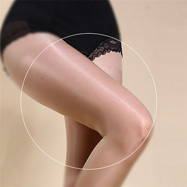 Women's Sexy Oil Shiny Glossy Classic Pantyhose Yarns Sexy Satin Stockings Girl Ladies Fitness Leggings 3