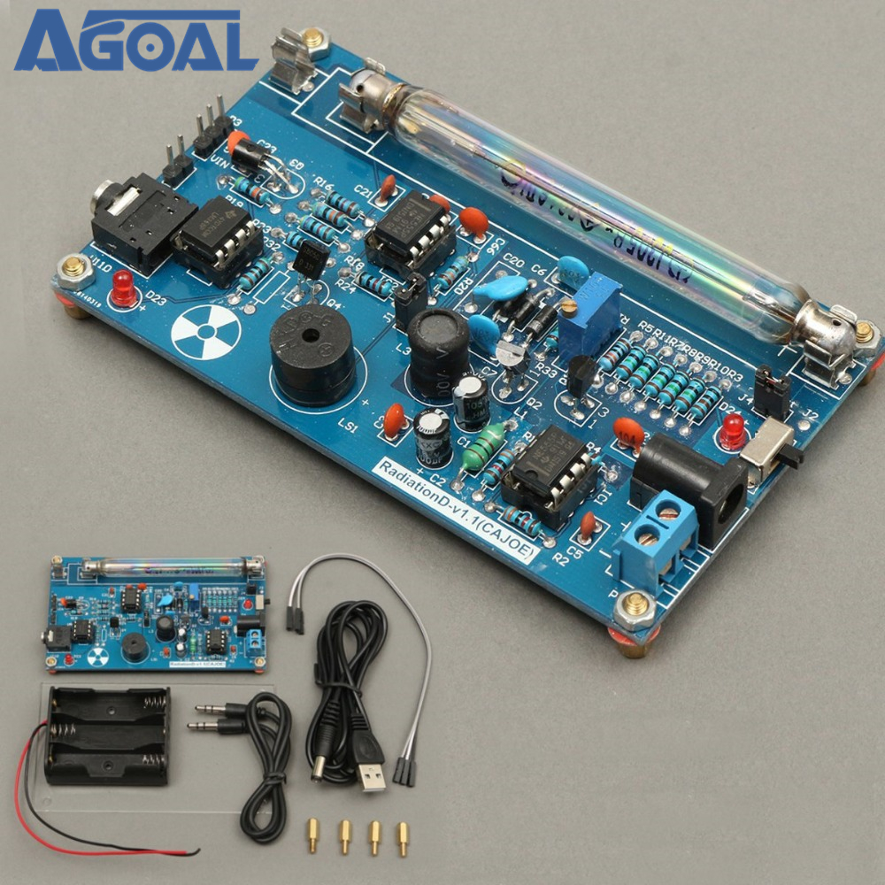 Assembled DIY Geiger Counter Kit Module Miller Tube GM Tube Nuclear Radiation Detector