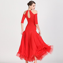 Xưởng Balo Đầm Stanard Nữ Phòng Khiêu Vũ Điệu Nhảy Đầm Tây Ban Nha Đầm Viền Bóng Luyện Tập Mặc Đỏ Flamenco Đầm Trang Phục