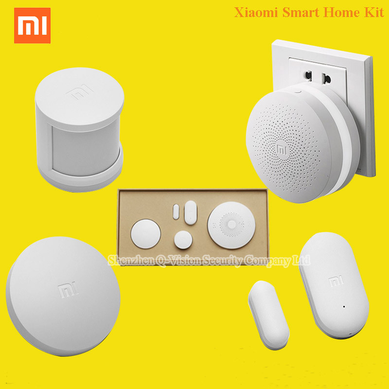 Original Xiaomi Smart Home Kit w Human Body Sensor Gateway Door Window Sensor Wireless Switch Multifunctional Smart Devices Set