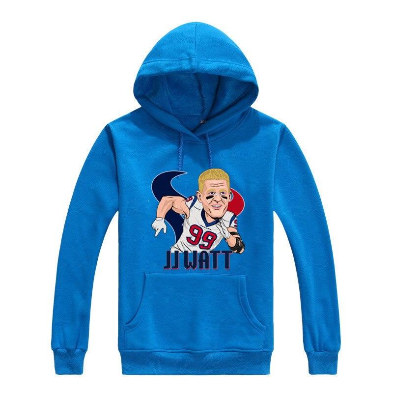 Asian size 2017 jj watt 99 texans Men warm Sweashirt Women hoodies for houston gfit 0904-3