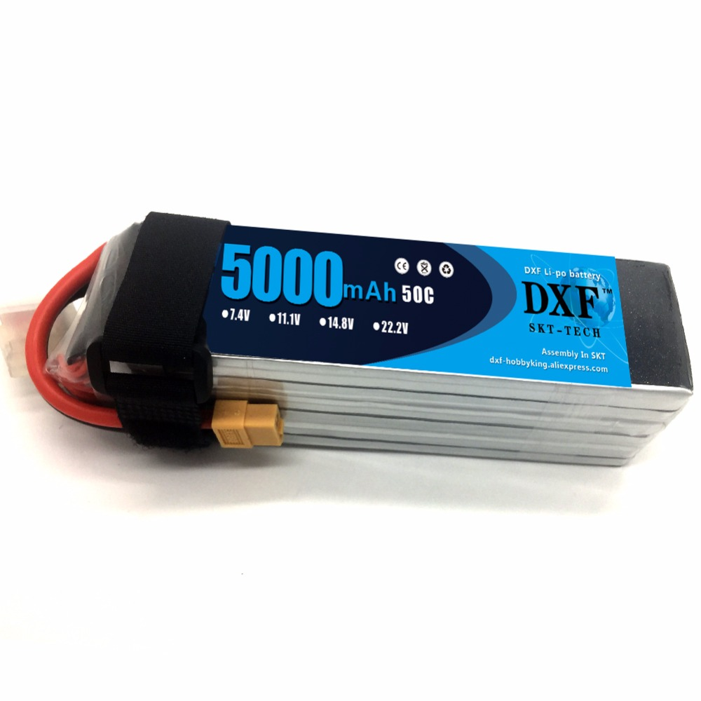 DXF Power 6S 22.2V 5000mah 50C RC Lipo AKKU Max 100C RC Lipo Li-polymer Battery For Yak 54 Align 7.2 800E Helicopter RC Drone jy 6000t solar powered 5000mah li polymer battery power bank for iphone samsung dark pink