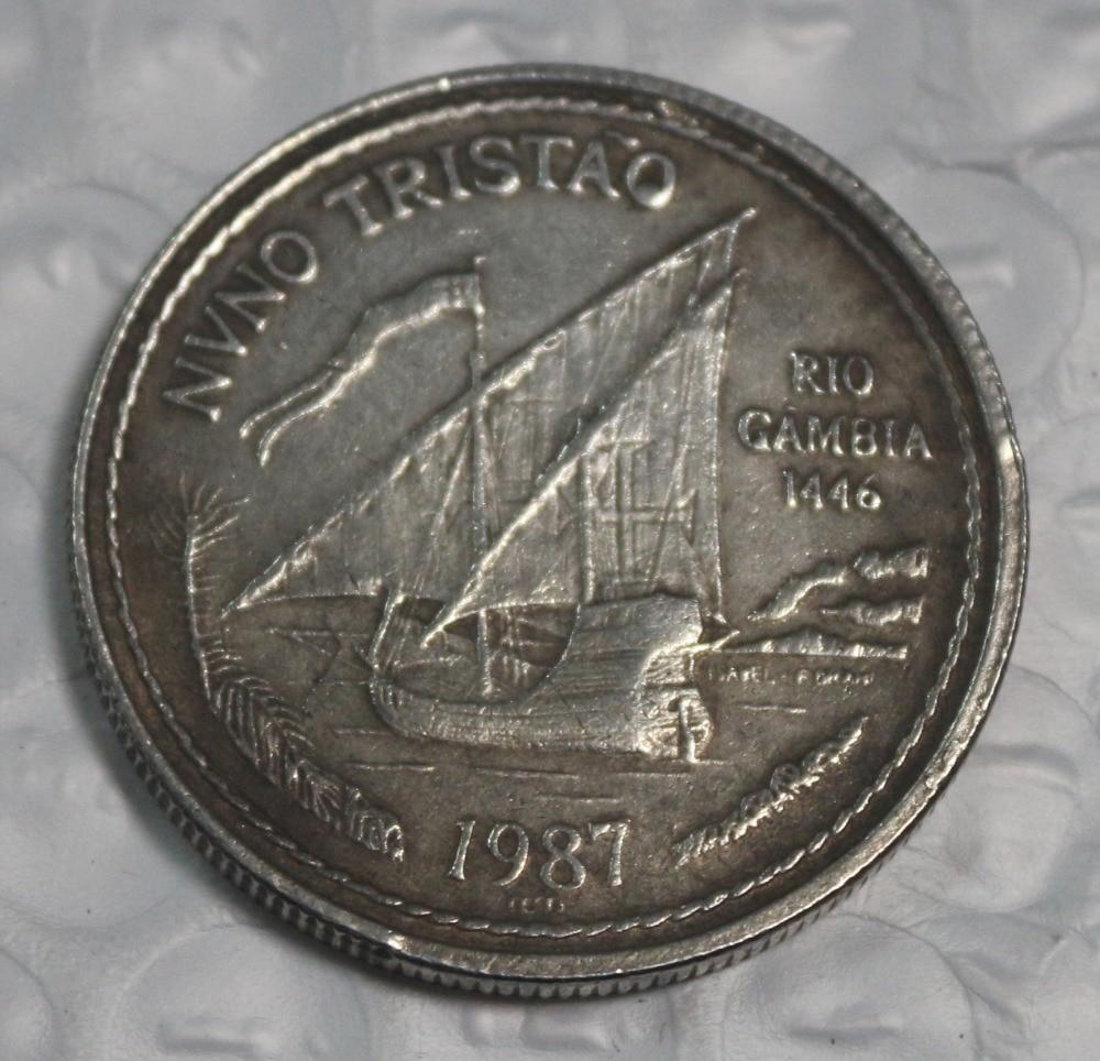 Portugal-1987-100-Escudo-Coin-Medal COPY commemorative coins-replica coins medal coins collectibles