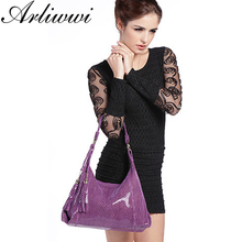 Real Soft Suede Cow Leather Lady Handbag