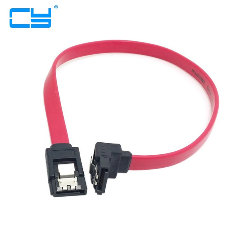 0.3m 1m 30cm 100cm SATA 7pin female to female Extension Cable with Locking Latch and 90 Degree Angled sata Plug for Hard Disk cp11 sata cable lateral 90 degree angled sata connector 6gb s 30cm blue