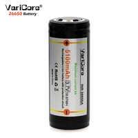 1PCS VariCore Protection 26650 5100mAh 3.7V Li-lon Rechargeable Battery with PCB 4A 3.6V Power batteries for Flashlight