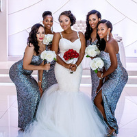 2018 Африканский нигерийский для девочек черного цвета роскошные Свадебные платья Русалочки спинки Милая прозрачная Тюль Иллюзия Sexy Vestido De