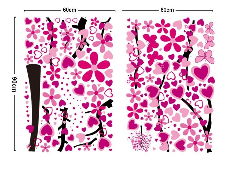 Ny Ankomst DIY Stort Bakgrund För Rosa Fjäril Blomma Träd - Heminredning - Foto 6