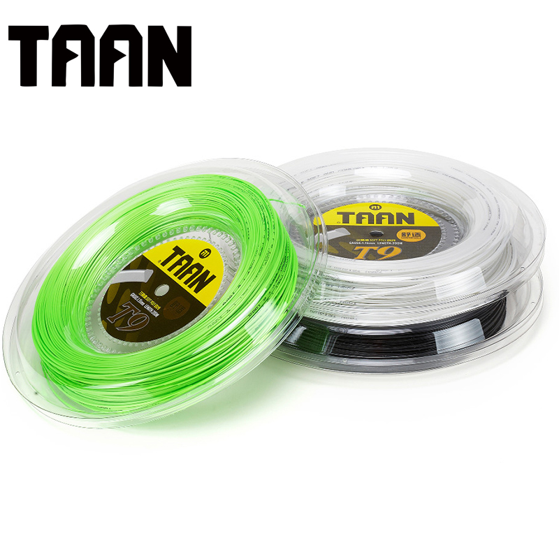 TAAN T9 200m Reel Tennis Racket String Soft Poly Spin Triangle Tennis Training String Control Sport 1.15mm Synthetic Soft String free shipping geo synthetic hexagonal nylon soft tennis racket string reel tsb 03