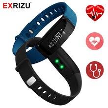 Exrizu V07 крови Давление измеритель пульса шагомер Smart Браслет фитнес-браслет здоровья смарт-браслет для IOS Android