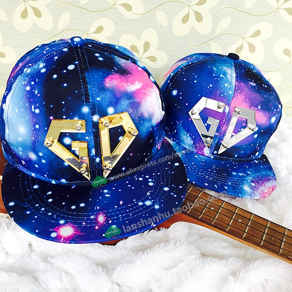 Hot Bigbang G-dragon GD Snapback Baseball Caps galaxy Star Sky Hat Galaxy Snapback Unisex Hip-hop Peaked Hat Casual 2017 bigbang 10th anniversary in japan made tour tae yang g dragon ins peaceminusone bone red baseball cap hiphop pet snapback