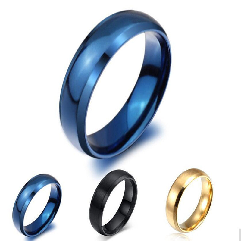 Jewelry 1pcs Jewelry 6mm Wide Arcedge Design Plated Rings For And For Stainless Steel R-014