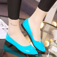 New Shallow Pumps Shoes For Women Pu Leather Ultra Light Women Dress Shoes Slip On Office