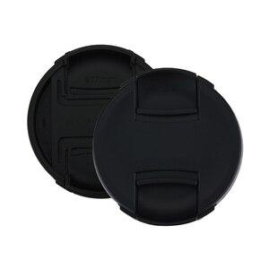 Image 3 - 10 pçs/lote alta qualidade 49 52 55 58 62 67 72 77 82mm centro pitada snap on tampa capa para canon lente da câmera