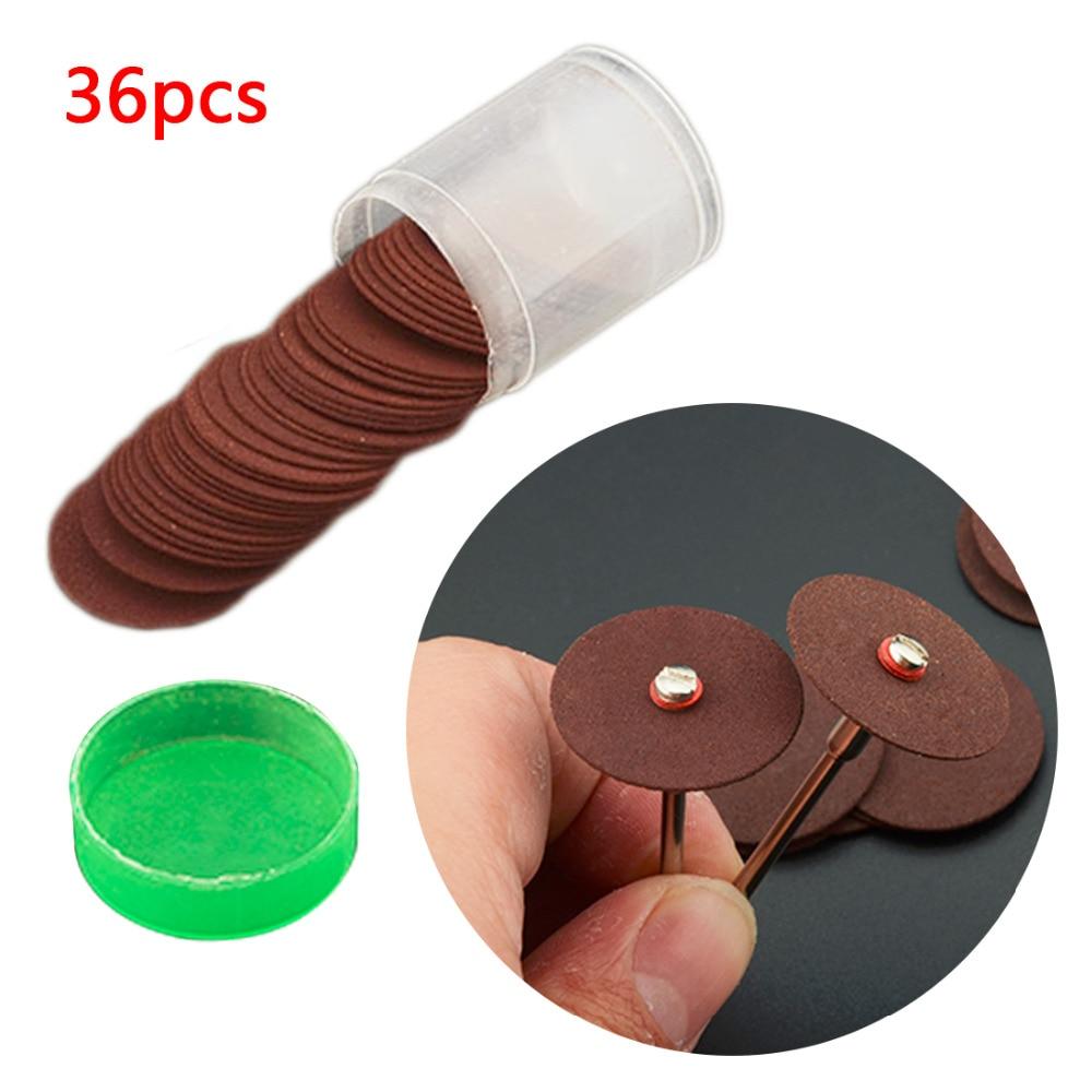 36pcs Resin Cutting Disc Circular Saw Blade Grinding Wheel 24mm Abrasive Sanding Disc For Dremel Rotary Tools