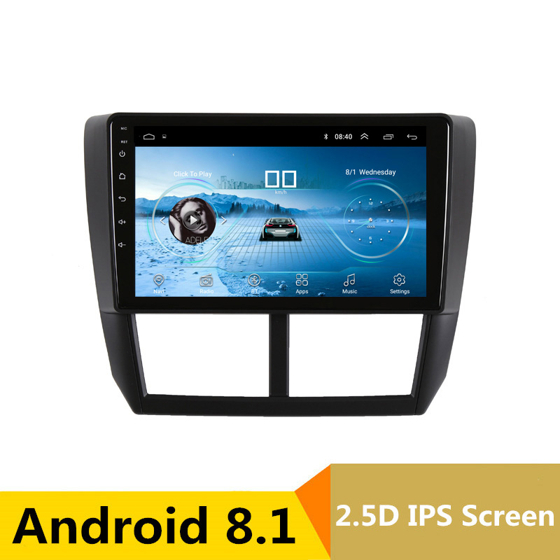 2.5D IPS Android 8.1 Car DVD Multimedia Player GPS for Subaru Forester 2008 2009 2010-2012 audio car radio stereo navigation