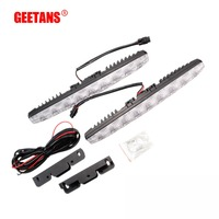 GEETANS 2PCS Set Universal Waterproof DC12V Car Light Daytime Running Auto Light DRL Auxiliary Lamp In