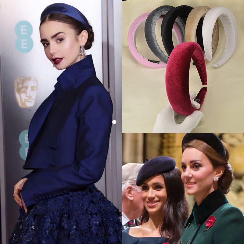 Fashion Thick Velvet Headbands Women Wide Head Band   Headwear   Elasticity Hairbands Elegant Girl Hair Accessories Vintage Headband