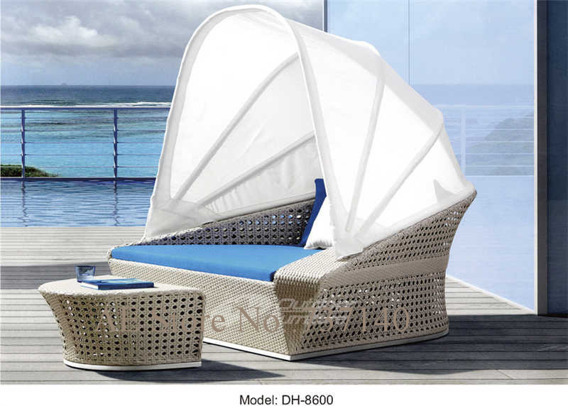 Outdoor Bed Rattan Round Bed With Tent Garden Furniture Outdoor Furniture  Furniture Agent Wholesale Price Quality Control In Sun Loungers From  Furniture On ...