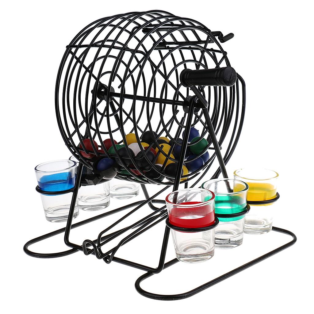 Metal Mini Bingo Machine Drinking Game Set for Party Home Pub Fun Entertainment Game