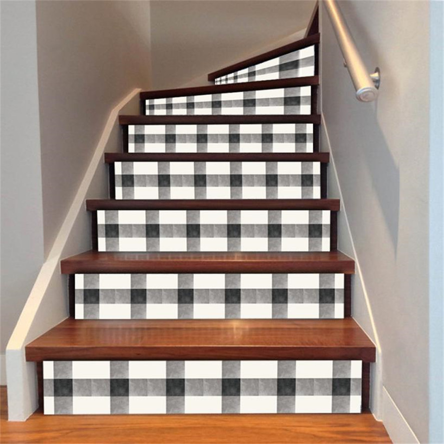 new stairs decal sticker 6pcs staircase stair riser floor sticker diy wall decal fashion stairs. Black Bedroom Furniture Sets. Home Design Ideas