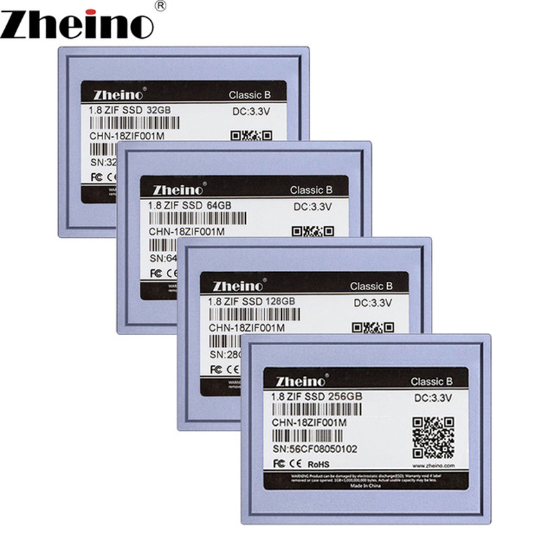 Zheino 1.8 inch SSD ZIF 40pin 32GB 64GB 128GB 256GB Internal Solid state drive 2D MLC Hard Disk Drive for Laptop Music player new 1 8inch ce zif ssd 128gb solid state drivese for ipod classic 3gen 160gb replace mk1634gal mk1231gal hs12yha mk8022gaa