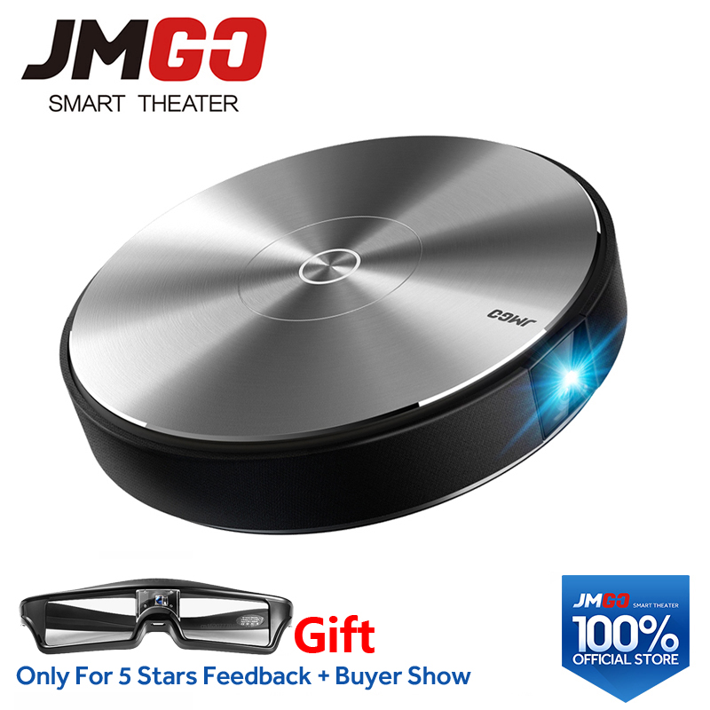 JMGO N7L Proiettore Full HD, 1920*1080 p, 2g + 16g, 700 ANSI Lumen Intelligente Beamer, WIFI, Bluetooth Speaker. HDMI, USB, Supporto 4 k TV LED