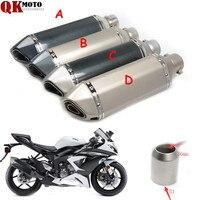 For KTM 690 Duke R 2014 2015 Carbon Fiber Refit Exhaust Muffler Pipe Motorcycles Universal 36 51MM for HONDA CBR954RR CBR 954