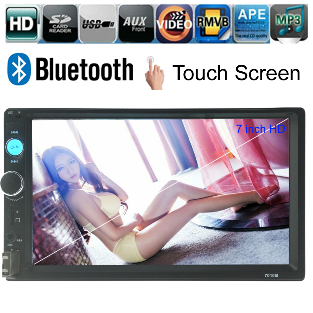 7'' HD 2 Din Car Radio MP5 Player Touch Screen Bluetooth Phone Stereo Radio FM/MP3/MP4/Audio/Video/USB Auto Electronics In Dash