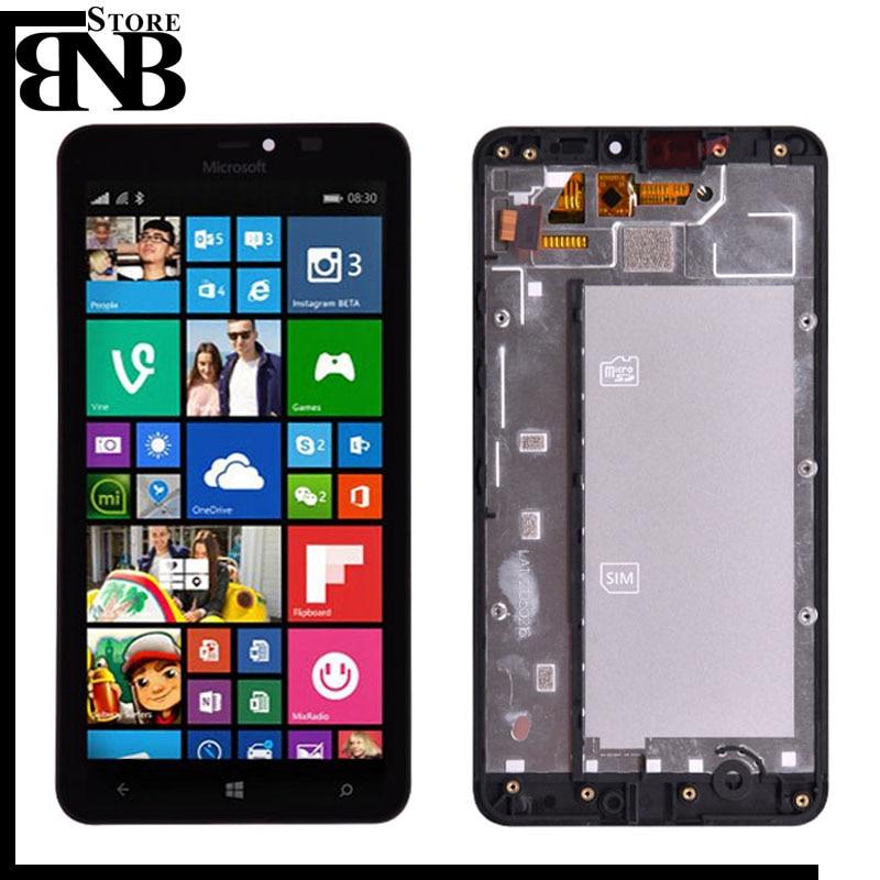 Original pour Microsoft Nokia lumia 640 xl 640 xl LCD écran tactile numériseur assemblée avec cadre pour écran LCD lumia 640
